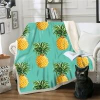 blanket plush throw blanket 3d fruit pineapple printed sherpa fleece microfiber throw blanket 2021 drop shipping