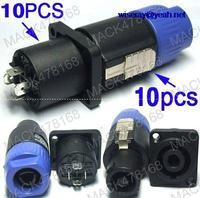 DHL/EMS 50PC 4-Pole Locking Speaker Cable + 10PC Speaker Socket-A8