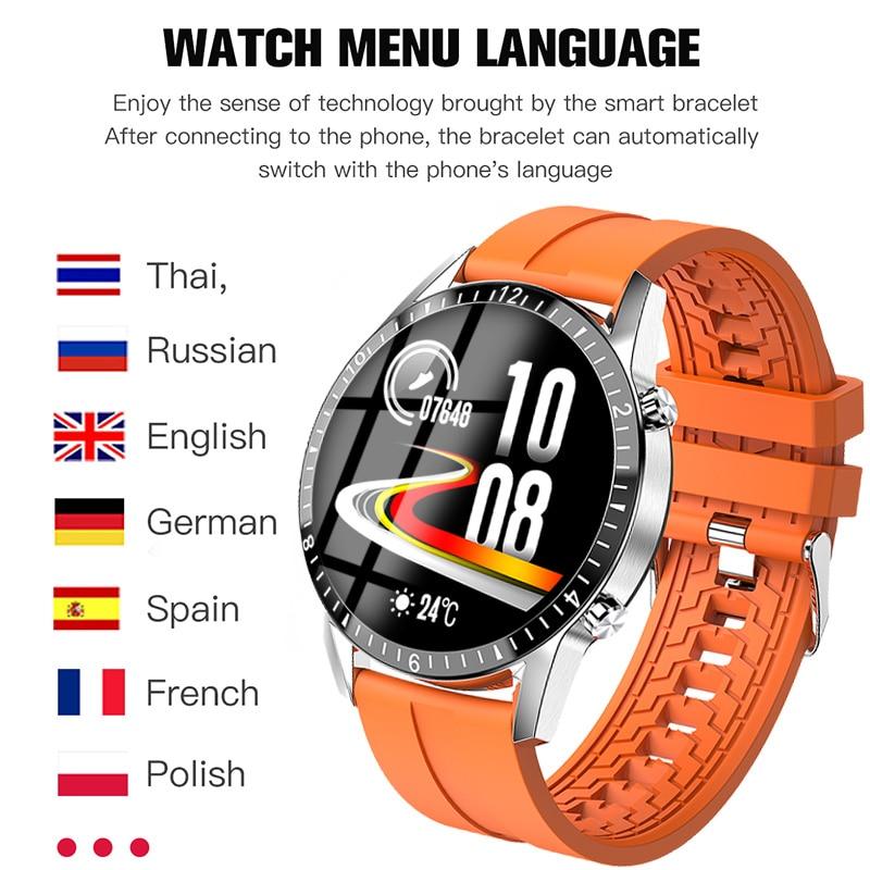 LIGE Bluetooth Phone Smart Watch Men Waterproof Sports Fitness Watch Health Tracker Weather Display 2020 New smartwatch Woman