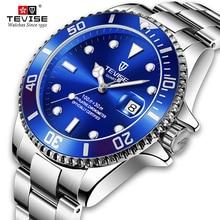 Tevise Fashion Men's Automatic Date Quartz Watch Waterproof Business Men's Watch Stainless Steel Str