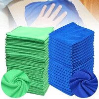 50 pcs extra soft car wash microfiber towel car cleaning drying cloth car care cloth detailing car washtowel never scrat 3 size