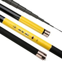 8m 9m 10m 11m 12m 13m Power Rod Carbon Fiber Fishing Rod Super Hard Telescopic fishing rod Fishing Tackle Spare 4 Parts GAN007
