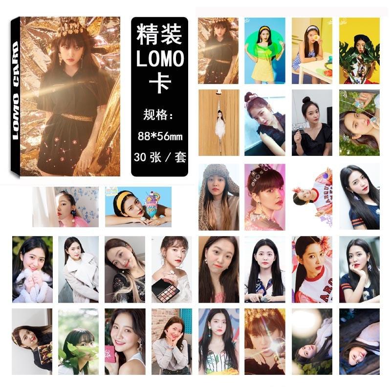 30 unids/set álbum de terciopelo rojo Tarjeta de póster Kpop terciopelo rojo photocard yery Tarjeta Única lomo alta calidad HD foto Kpop