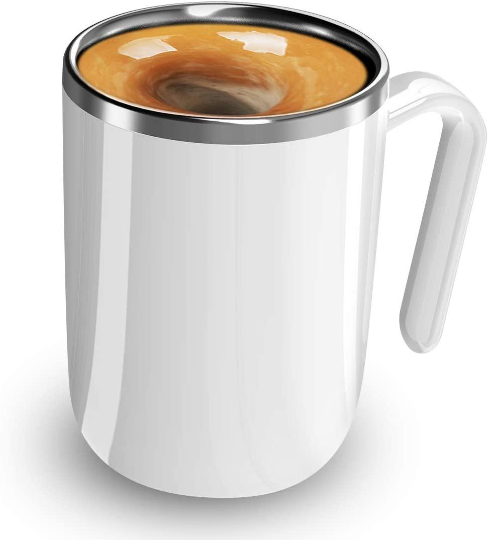 Taza Auto removible pruveeo, taza Auto mezcladora de acero inoxidable para café, Chocolate caliente, leche, para oficina, cocina, viajes, hogar