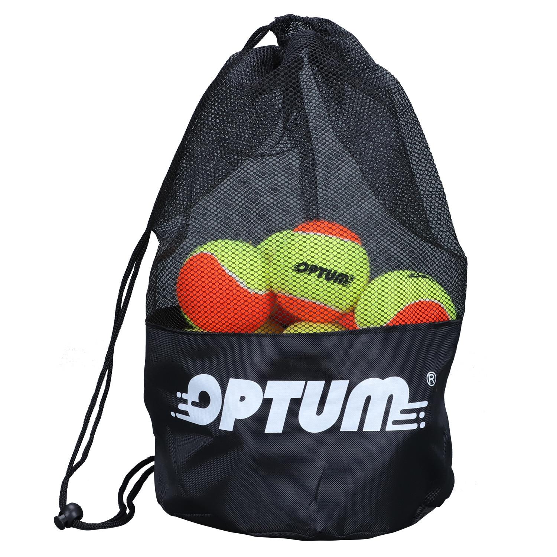 OPTUM Beach Tennis Balls  With Mesh Shoulder Bag - 12, 24, 36 Pack Sizes