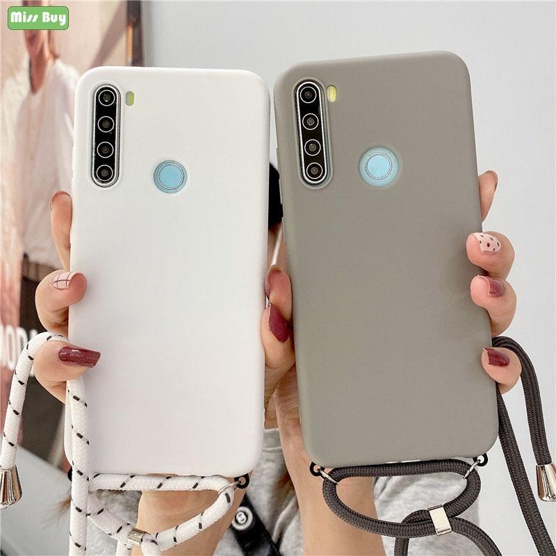Strap Cord Chain Matte Soft Case For Xiaomi Poco M3 X2 M2 F2 Pro Pocophone F1 Case Carry Necklace La