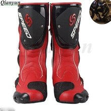 Botas protectoras de moto para hombre, botas para montar, botas de cuero de microfibra para Motocross, botas para motocicleta r1 r3 r6 mt07 mt09