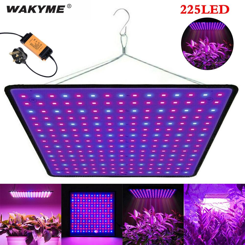 WAKYME 2 قطعة/الوحدة 225 LED تنمو ضوء الطيف الكامل الكم مجلس Phytolamp للنباتات داخلي بذور زهرة الزراعة المائية فيتو مصباح
