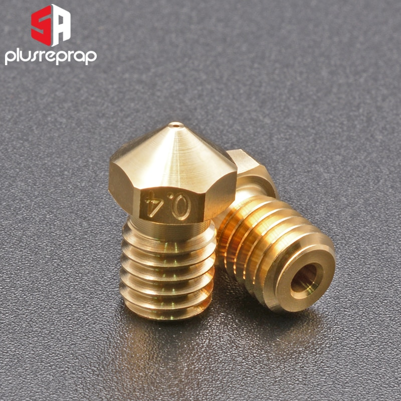 Boquillas de latón serie V6 de alta calidad para impresora 3D 0,4mm M6 boquilla roscada para extrusora Titan boquillas 3D V5 V6 Hotend