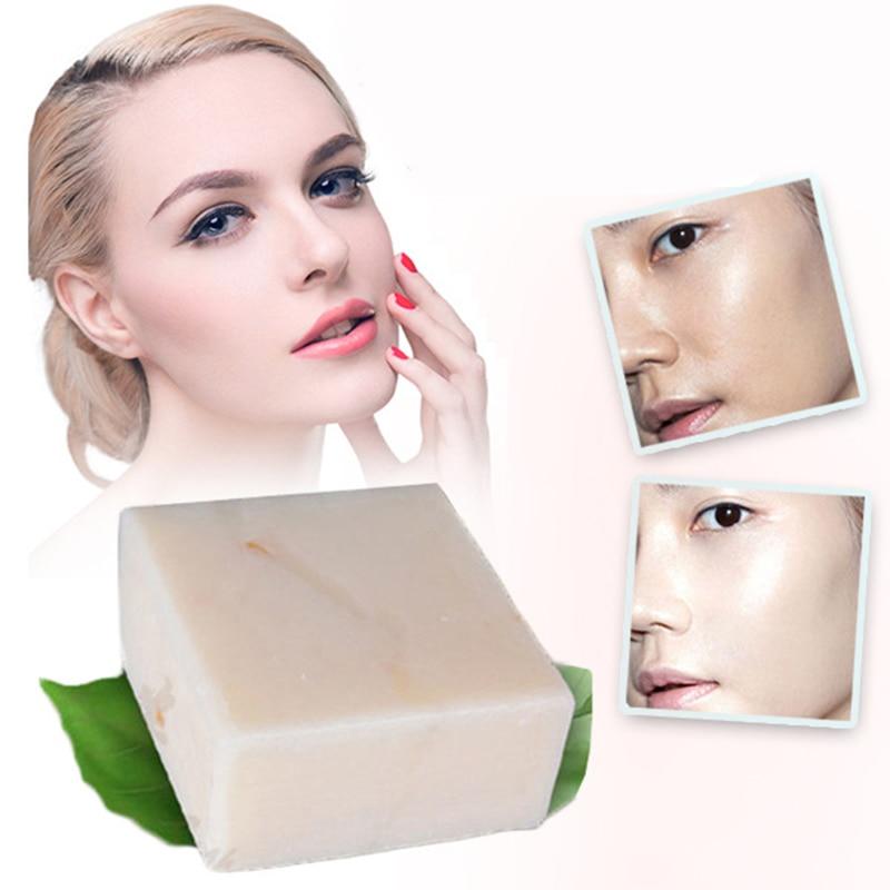 JAM jabón de leche y arroz hecho a mano 60g blanqueamiento brillo e hidratación lavado de la piel jabón de limpieza profunda del cuerpo de la cara Natural no estimulante