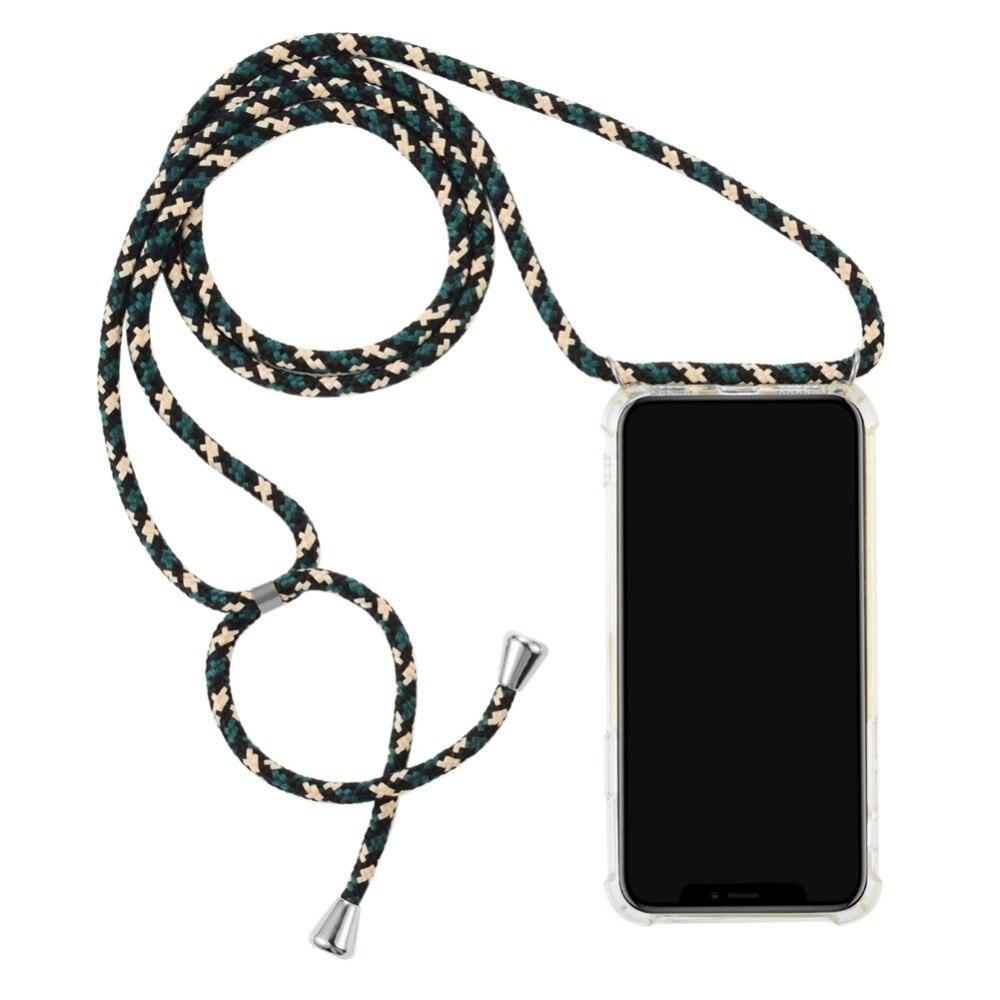 Чехол для телефона со шнуром через плечо для samsung Galaxy J730 J8 2018 J5 J7 J6 J4 Prime j2 core противоударный Прозрачный чехол для телефона из ТПУ s