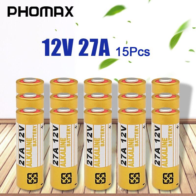 PHOMAX 15 шт./упак. 27A 12V одноразовый батарея CA20 K23A L1028 23AE 21/23 A23 12V 23GA cухая щелочная батарея игры/нержавеющая сталь часы батареи