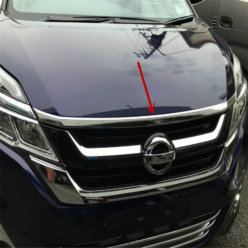 WELKINRY car auto cover for NISSAN SERENA C27 2016 2017 2018 2019 2020 ABS chrome front head hood bonnet trim
