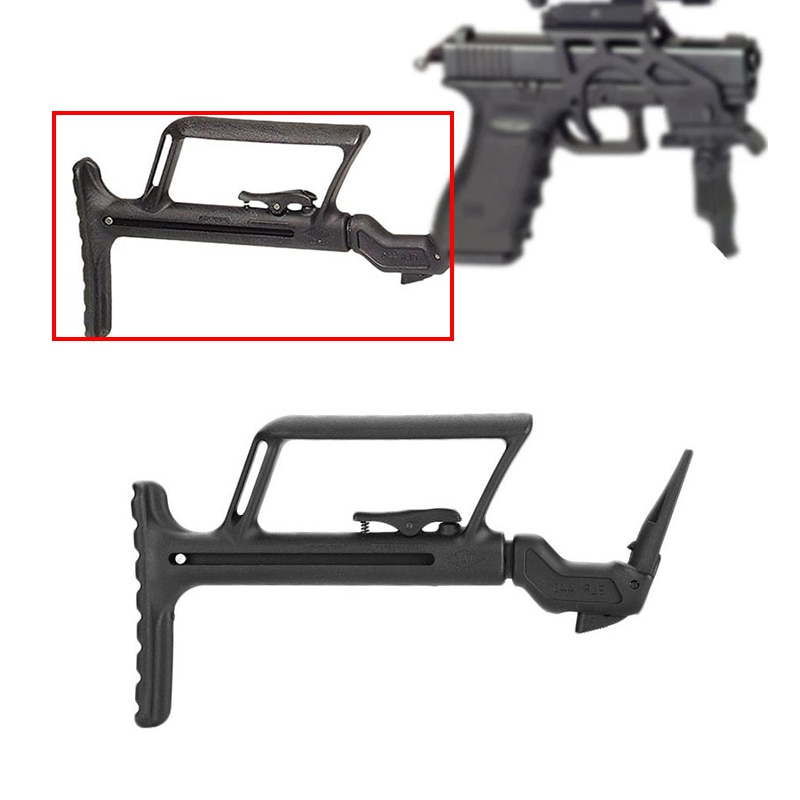 Dropshipping tático glock 17/19 apoio buttstock para carabina g17 g18 g22 g34