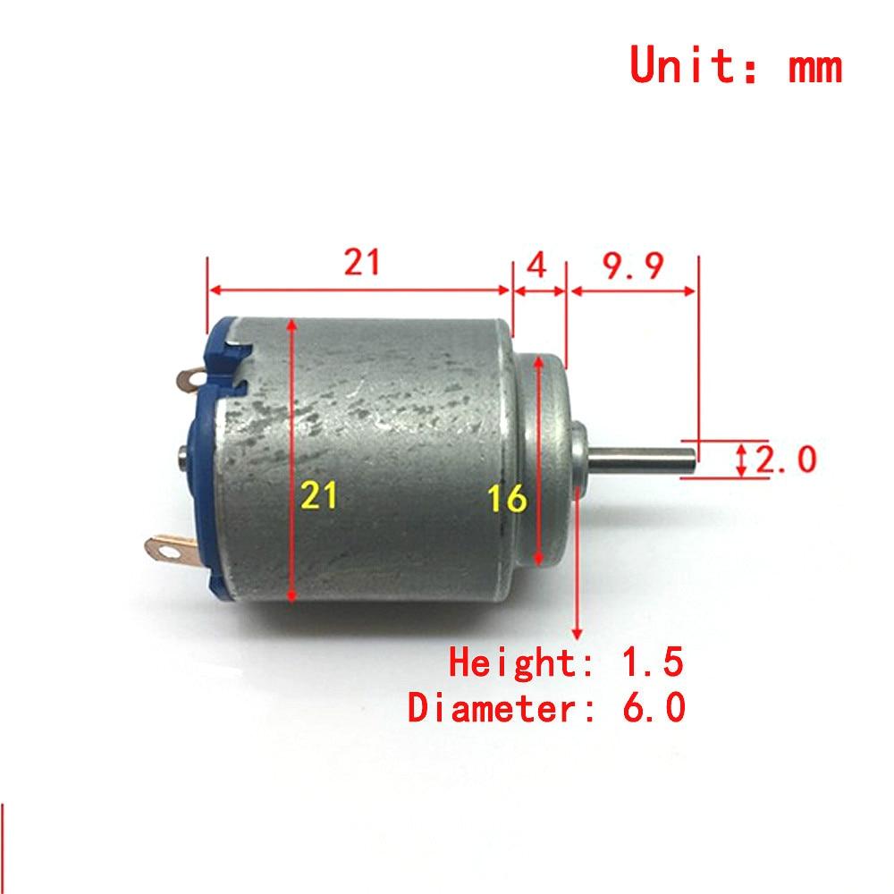 MABUCHI Mini ronda 140 Motor DC 1,5 V 3V 4,2 V 6V Micro Motor eléctrico de alta velocidad alto par DIY juguetes Juguetes Coche de barco modelo