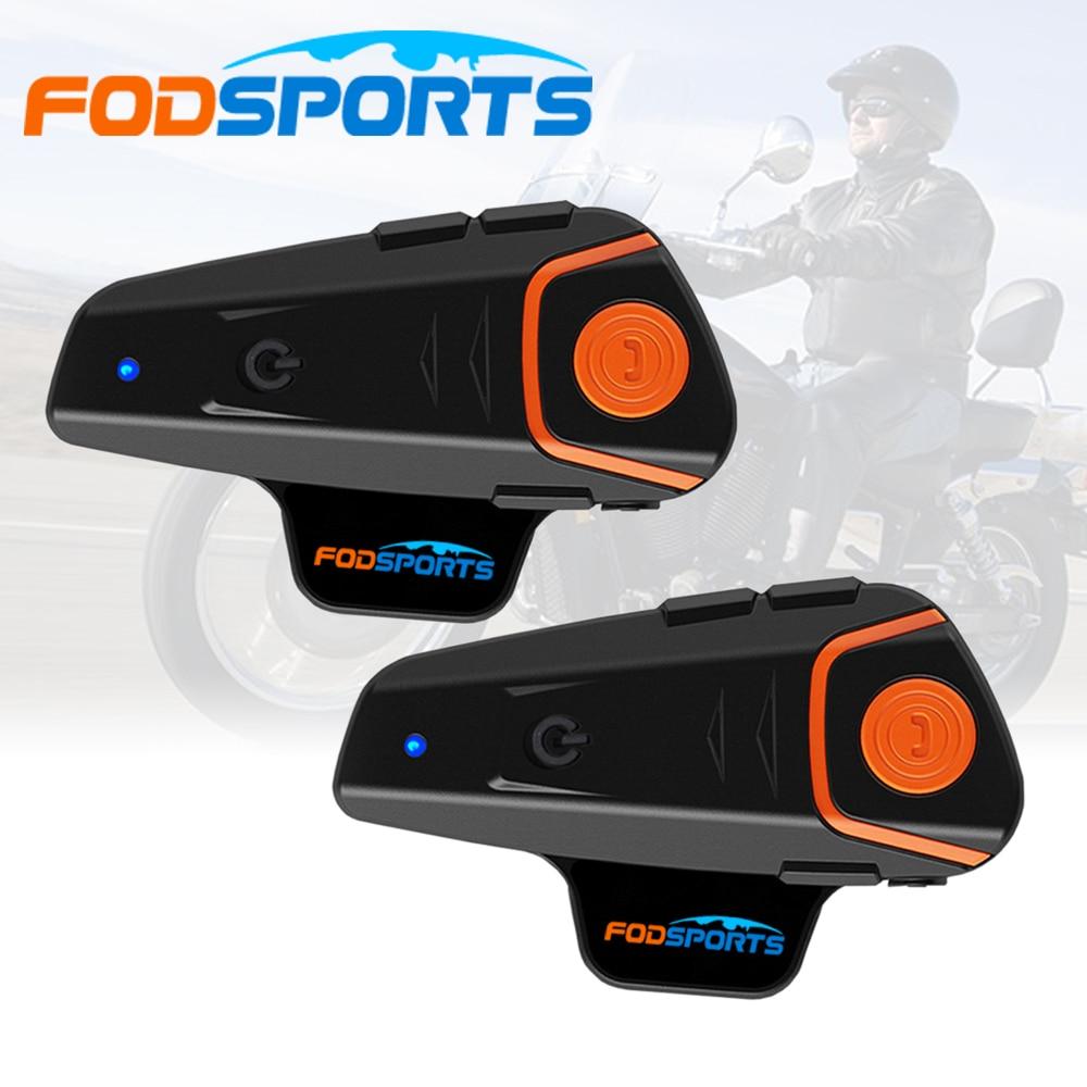 Fodsports-intercomunicador BT-S2 Pro para casco de motocicleta, intercomunicador para 3 Rider, para...