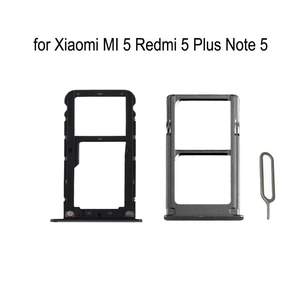 Для Xiaomi mi 5 Red mi 5 Plus Note 5 Оригинальный Корпус для телефона Новый SIM адаптер лотка для Xiao mi Note 5 Plus mi cro лоток для карт SD Держатель