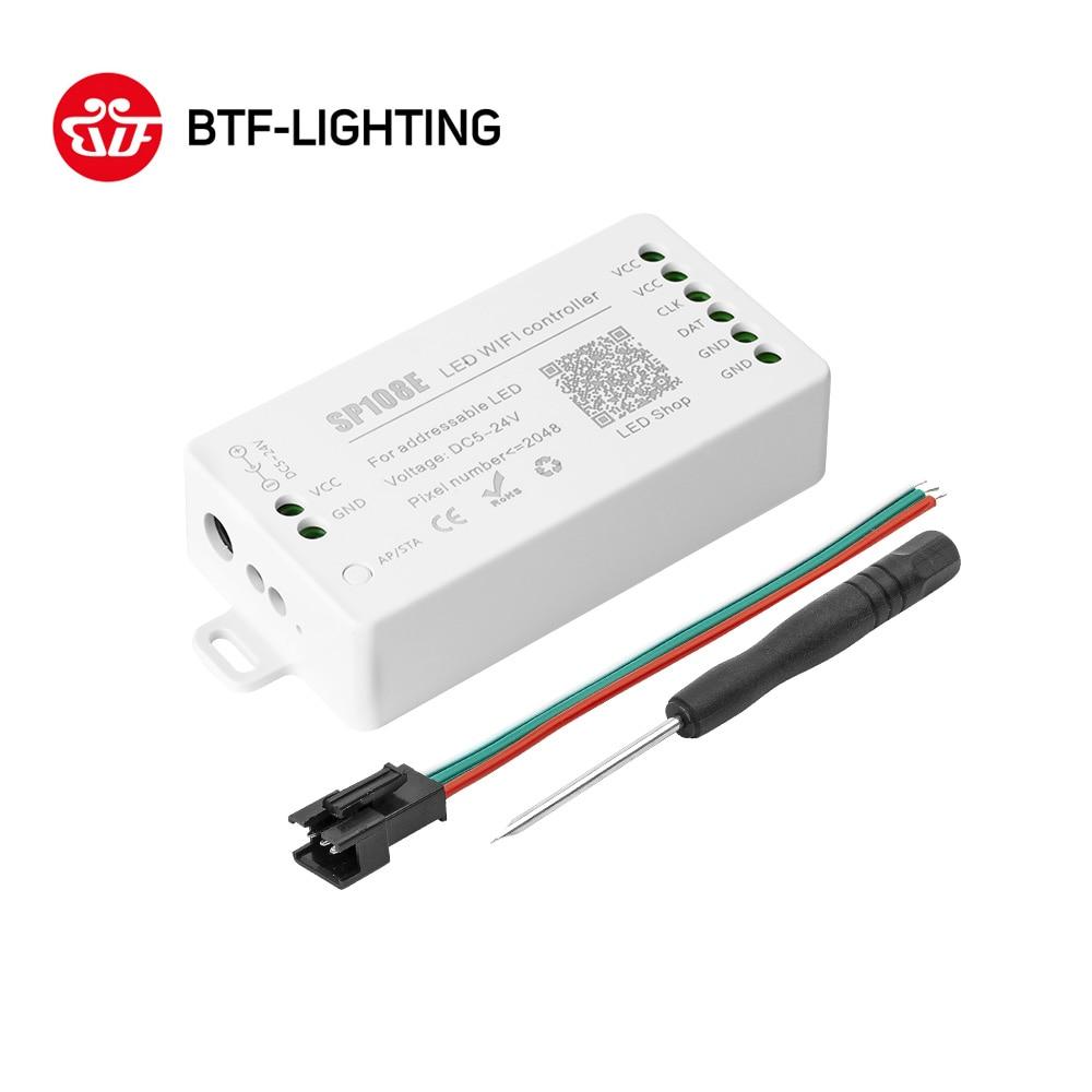 SP108E LED Wifi Magic Controller WS2812B WS2813 Etc LED Strip Module Light Smart APP Wireless Contro