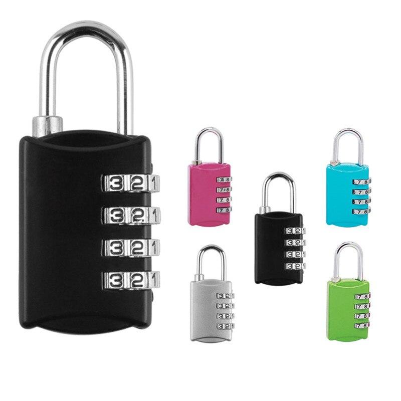 Venda quente Liga de Zinco Número Código Reajustável 3/4 Digit Combination lock Senha Bolsa de Viagem Bagagem Mala Cadeado de Segurança