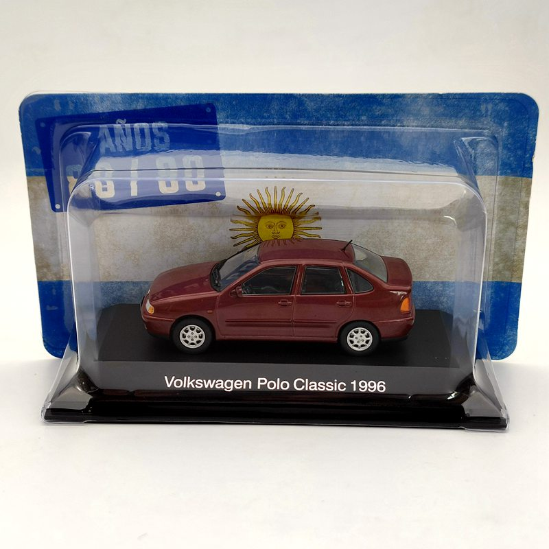 IXO 1:43 For V~~ksw~gen Polo Classic 1996 Diecast Models Collection Limited Edition Auto Toys Car Gift Red ixo altaya 1 43 scale ford mustang shelby gt 350h 1965 cars diecast toys models limited edition collection white