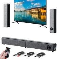 Беспроводная звуковая панель для телевизора, 20 Вт, Bluetooth 5,0, съемная звуковая панель, домашний кинотеатр, методы двойного подключения для тел...