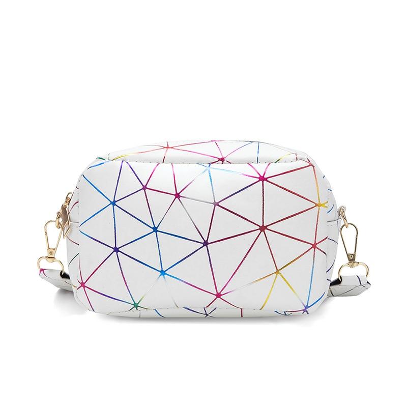 Womens Bag 2021 Street Trend Ladies Small Square Plaid Colorful Portable Messenger Shoulder