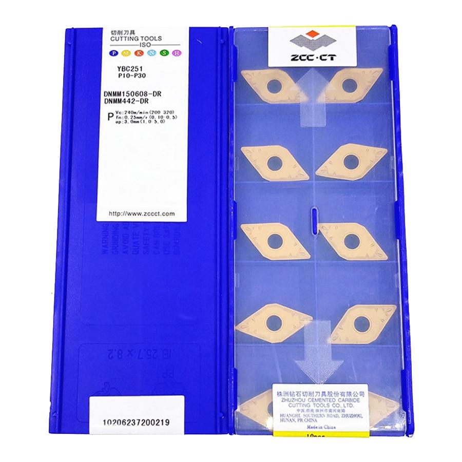 ZCC.CT DNMM150608-DR YBC251/DNMM150612-DR YBC251 كربيد إدراج 10 قطعة