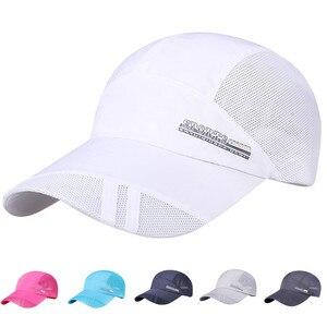 Men Baseball Cap Adult running cap Mesh Hat Quick-Dry Collapsible Sun Hat Outdoor Sunscreen breathable Women caps Gorras #L20