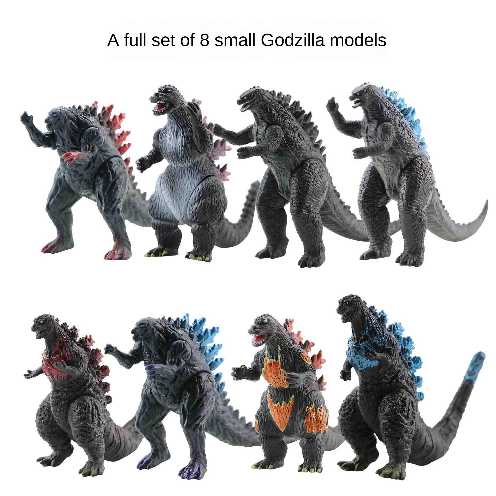 Figuras de acción de Gojira Godzilla, set de 10 unidades de 3 a 8cm en PVC, juguete coleccionable, regalo para niños