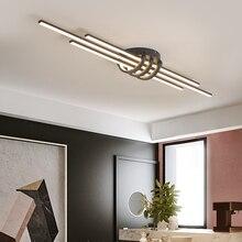 2020 новые современные светодиодные потолочные лампы для гостиной, спальни, кабинета, прохода для балкона для одежды, магазина освещения, чер...