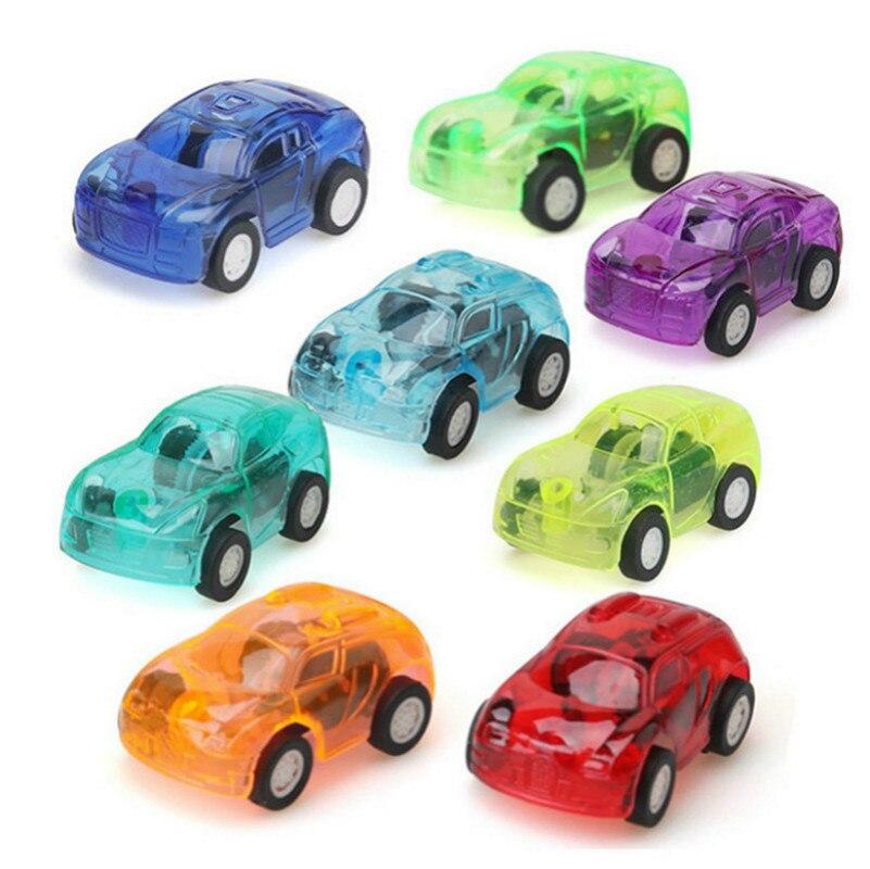 1pcs Transparent Reaction Car RC Car Manual Remote Micro Racing Car Transparent Candy Colors Cars To