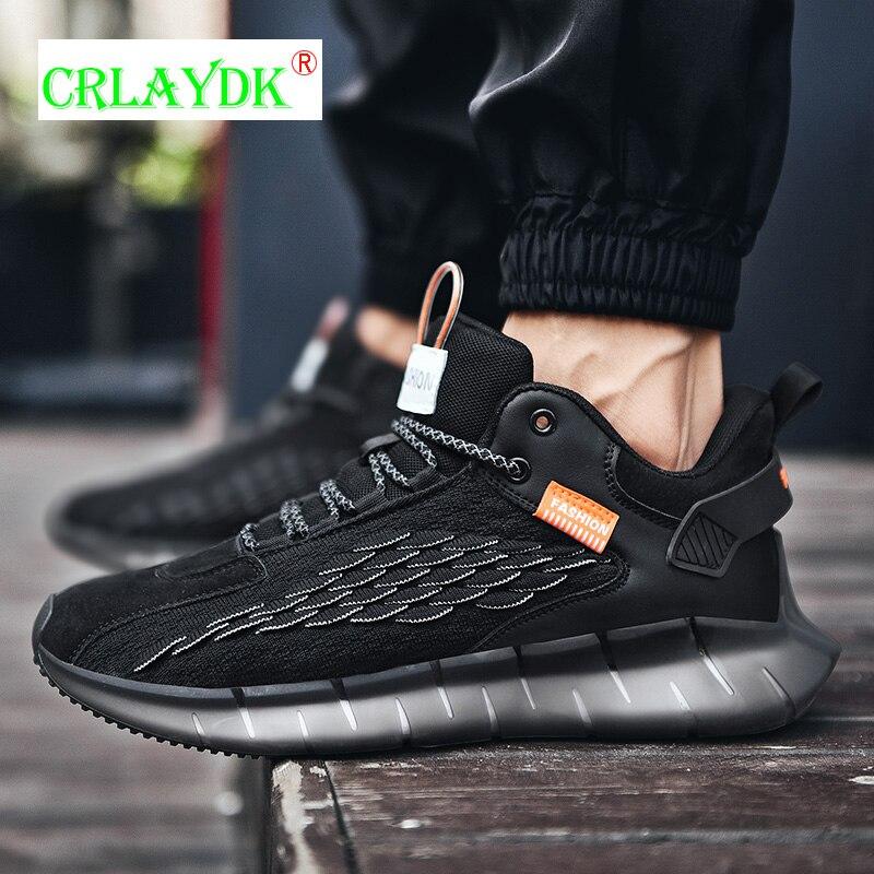 CRLAYDK 2021 جديد الرجال أحذية رياضية كاجوال شبكة تنفس احذية الجري المشي كرة السلة تنس مريح بنين رياضة الجري