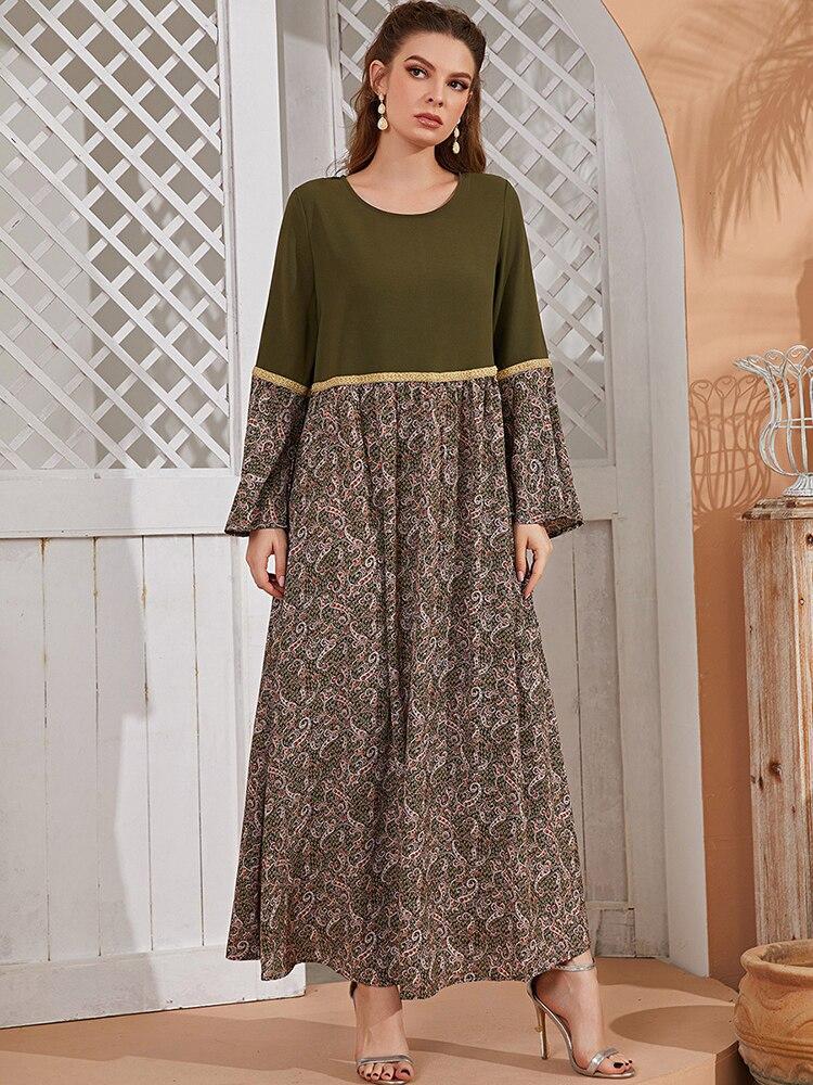 Женское длинное платье макси Eid Dubai Abaya, длинное платье в турецком, исламском, арабском, мусульманском стиле хиджаб, длинное женское платье charli длинное платье