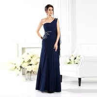chiffon floor length simple mother of the bride long dress one shoulder pleat gossamer cape purple guest groom moms party gown