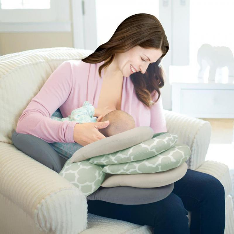 Almohadas de lactancia, almohadas de maternidad para bebés, almohadas de lactancia ajustables en capas, cojín de enfermería para recién nacidos, almohada de lactancia