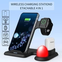 10w 3 in 1 wireless charger fast charging dock station cargador cellphone for iwatch 5 4 3 airpods pro for iphone 11 xs xr x 8