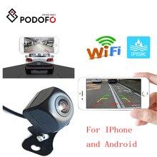 Podofo-caméra de Vision nocturne HD   Mini caméra de Vision arrière pour voiture Wifi, caméra arrière de sauvegarde sans fil étanche pour IOS et Android