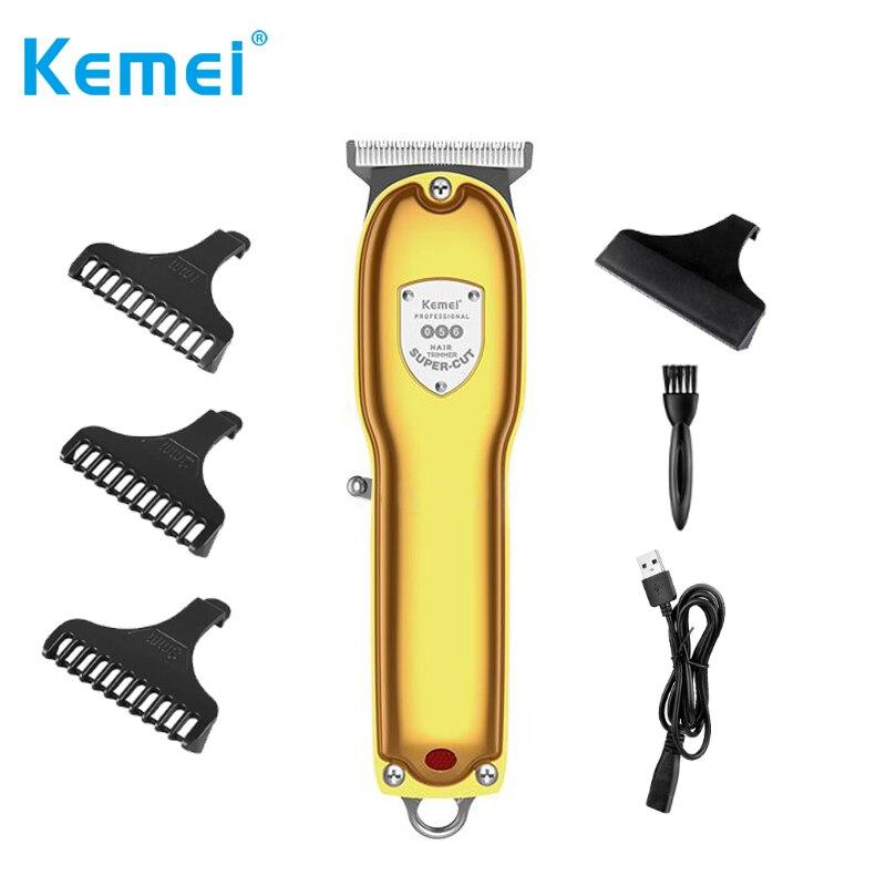 KM-056 Kemei المهنية اللاسلكي اللحية/الشعر المتقلب 0 مللي متر يده مشابك شعر للرجال الحلاقين قابلة للشحن