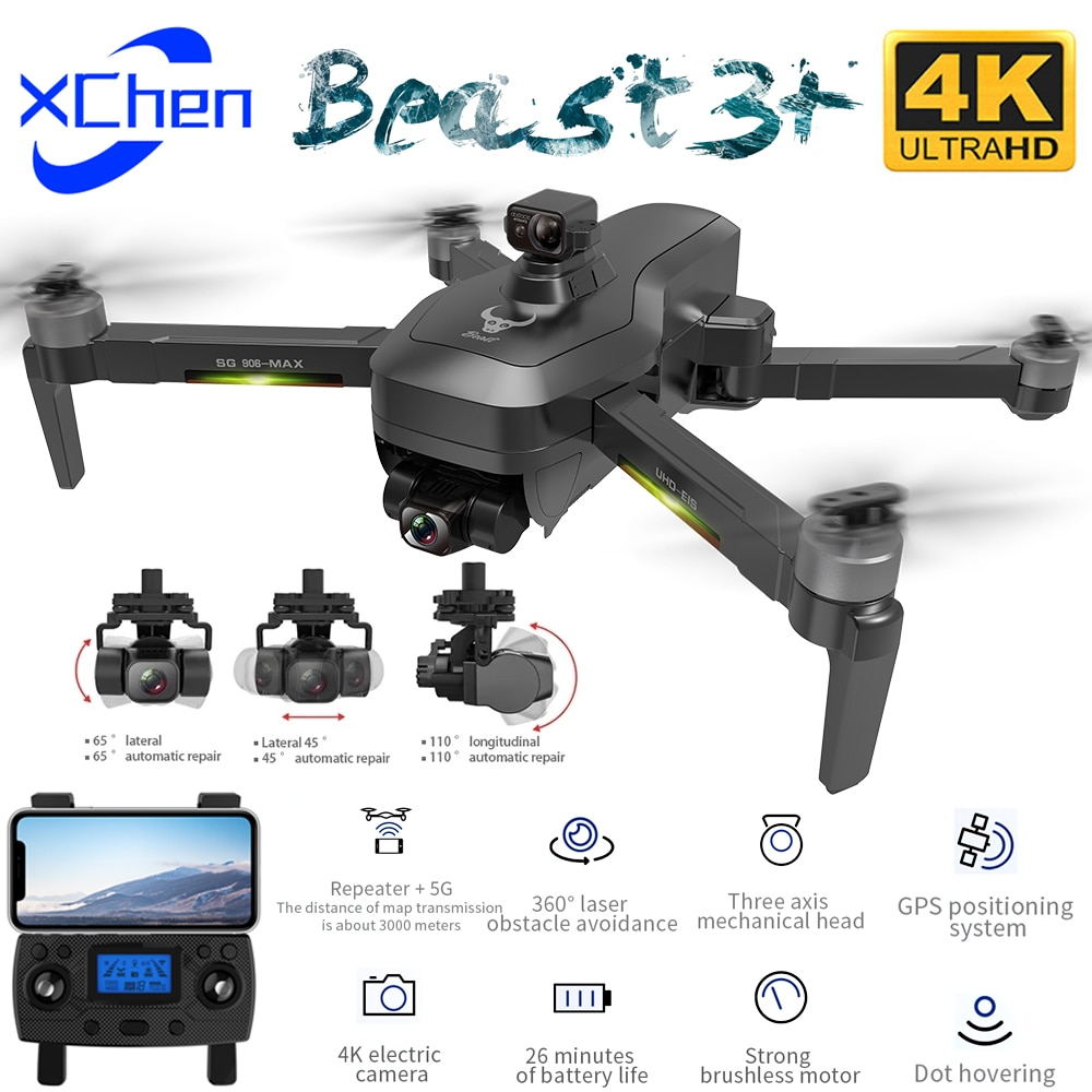 SG906 MAX1 Pro2 GPS Drone with 4K HD Camera 3 Axis Gimbal Brushless Professional WiFi 5G FPV Obstacle Avoidance RC Quadcopter