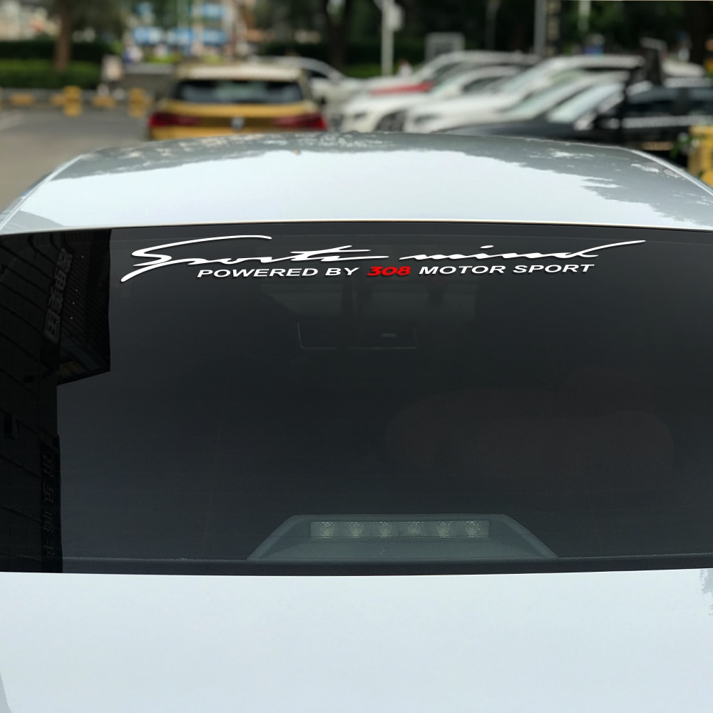 Película adesiva para-brisa de automóvel, adesivo decorativo para peugeot 308 para estilizar carro, frente, traseira, decalques, acessórios reflexivos