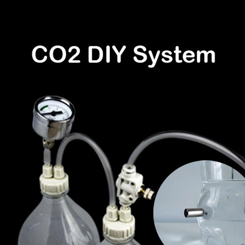 CO2 DIY sistema válvula de retención burbuja contador planta de agua para acuario tanque de peces cilindro CO2 atomizador difusor