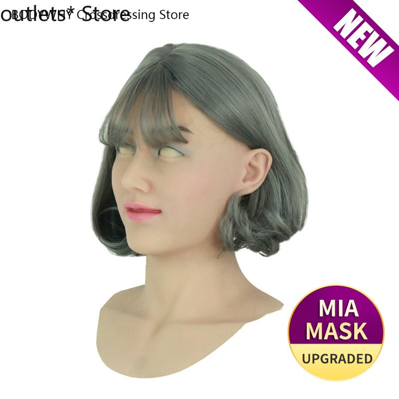 Silicone Mask Latex Sexy Cosplay Artificial Realistic Skin Mask for Crossdresser Transgender Male Shemale Drag Queen
