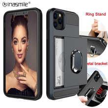 Gorgeous Slide Card Phone Case For Samsung Galaxy S20 Ultra S10 S9 S8 Plus S7 Edge Note 20 10 9 8 A3 A5 A7 A8 Holder Full Cover