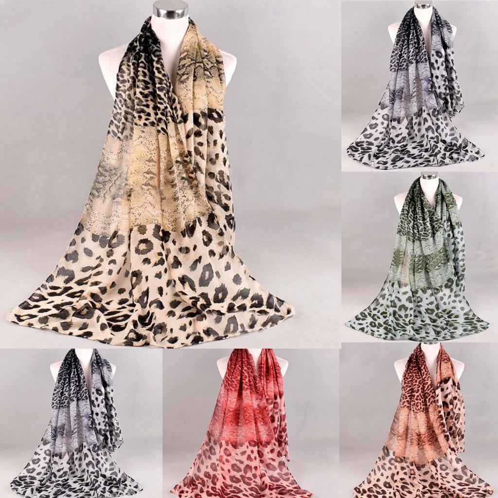 Hiver 2020 femmes dame Folk-personnalisé imprimé léopard carré écharpe enveloppement châle voyage écharpe livraison directe ins vent mode style