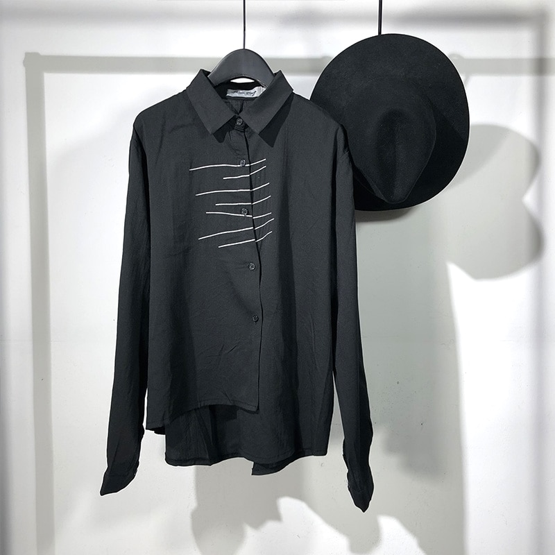 182 Seak-قمصان رجالية غير رسمية ، ملابس الشارع ، لفصلي الربيع والخريف