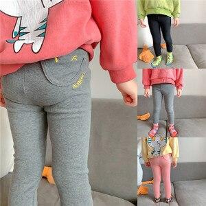 Girls Leggings Embroidery Sports Trousers Girl Leggings Children Baby Girl Casual Pants Cotton Leggings