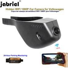 Jabriel-caméra de voiture 1080P   Wifi caché, tableau de bord, caméra de 24 h, voiture dvr pour vw Passat b7 b8 Volkswagen golf 6 7 Sportsvan CC tiguan tharu