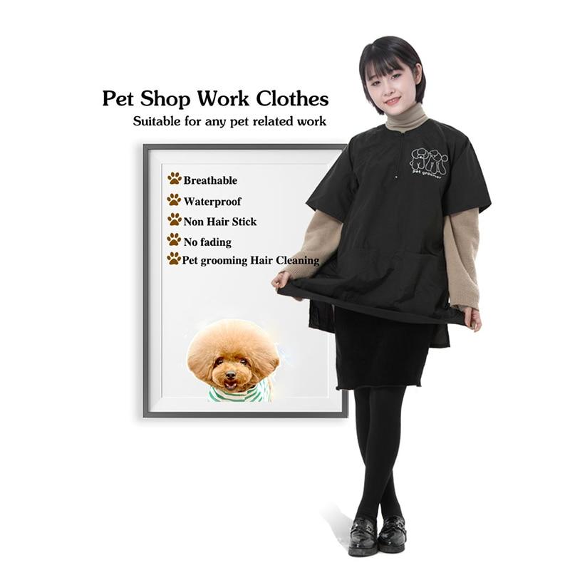 Roupas de Trabalho Avental de Cabeleireiro Salão de Beleza 3xl Barbeiro Pet Shop Groomer Zíper Impermeável Anti-estático Limpo G1107 s – m l xl