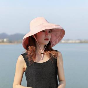 2020 new hat female ins big eaves double-sided fisherman hat embroidery fashion small daisy sunscreen sun hat