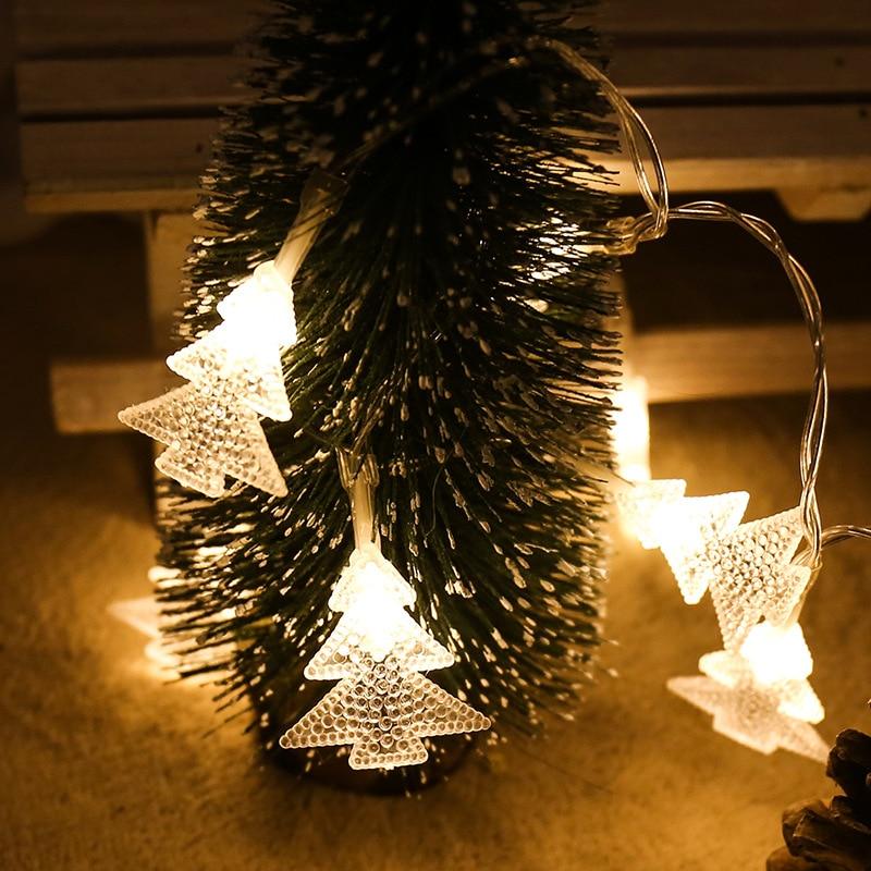 Рождественская гирлянда 1/3/6 м, сказосветильник светильник на елку Xams, Рождественское украшение для сада, уличное светодиодное освещение, ул...